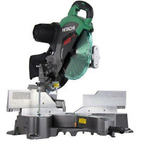 15a 12 Dual Bevel Sliding Compound Miter Saw With Laser Hitachi C12rsh2