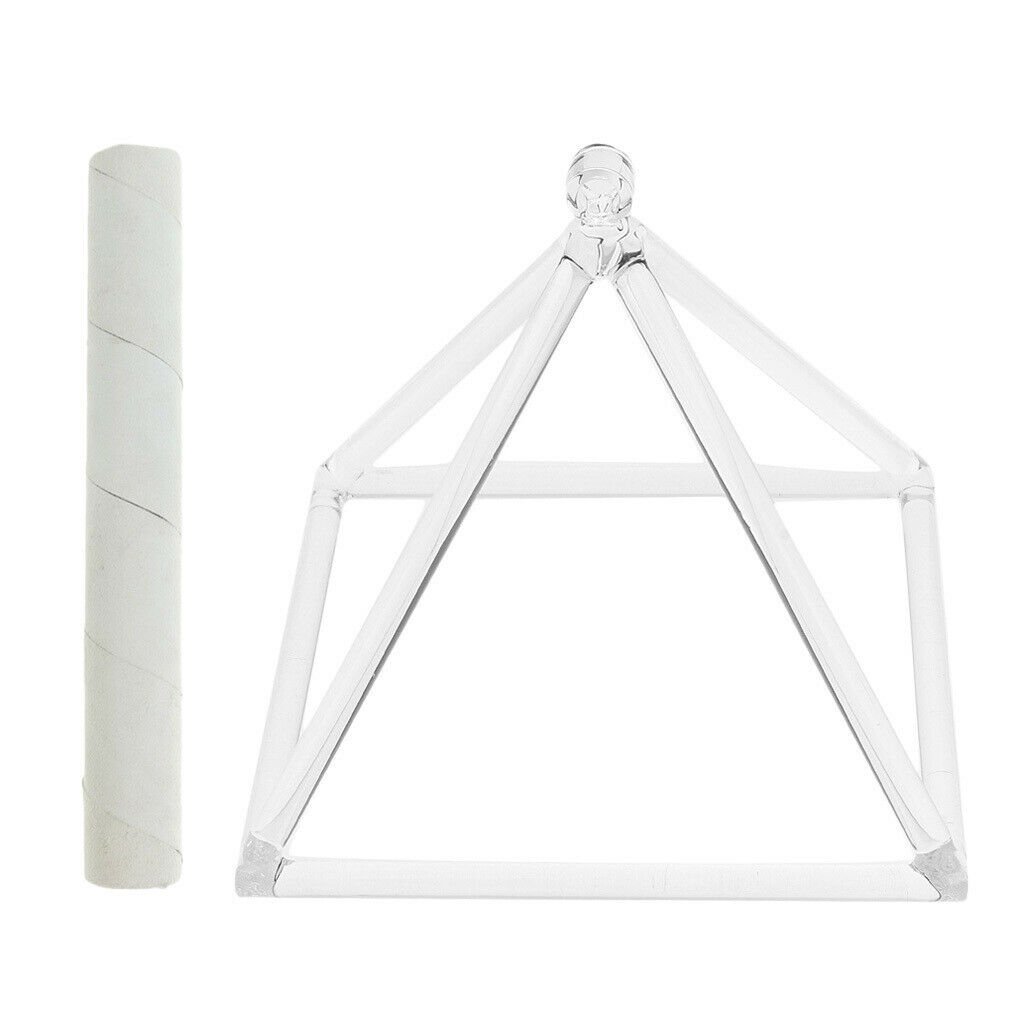 D-Key Kristall Pyramide Klangschale mit Schlägel Set
