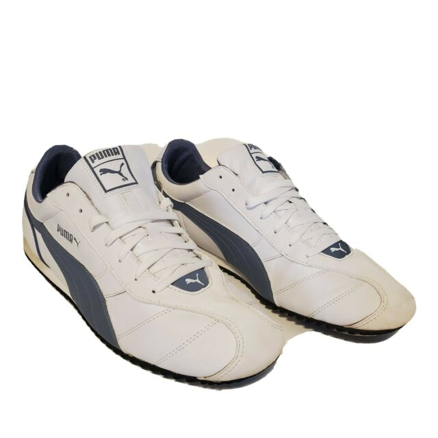 Puma Snts Mens Size 14 Sneakers  White Leather Running Athletic Shoes 35379004