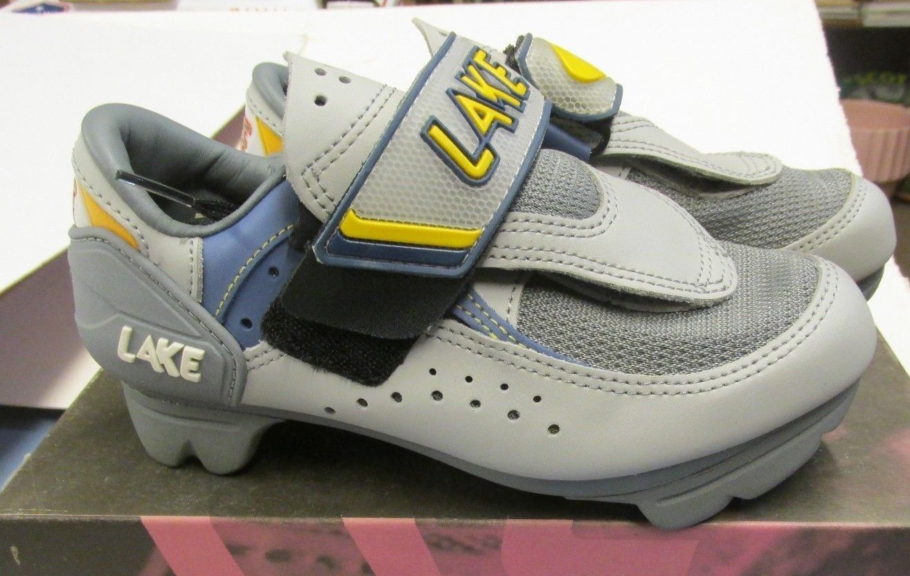 LAKE CX115 TRAINER-W CYCLING Schuhe Damen grau Blau Gelb US SIZE 5.5 (EU 36)