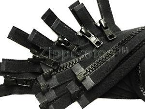 Vislon-Zipper-YKK-Number-5-Medium-Weight-Molded-Plastic-Separating-MADE-in-USA