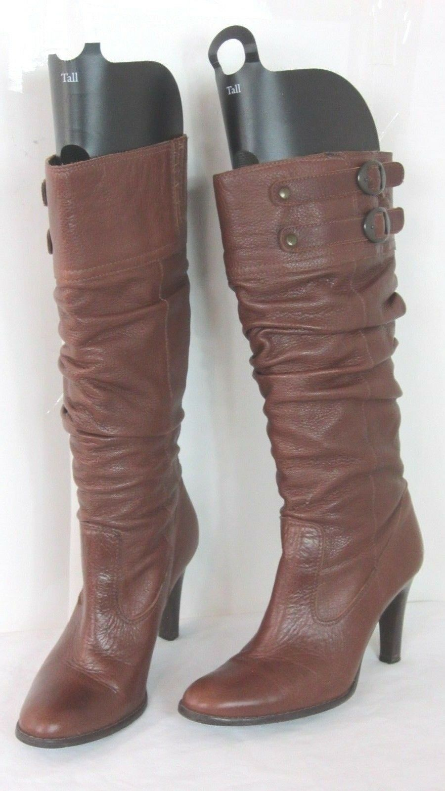MATISSE Brown Leather Slouch  Knee High Boots Size 7.5 M  Womens