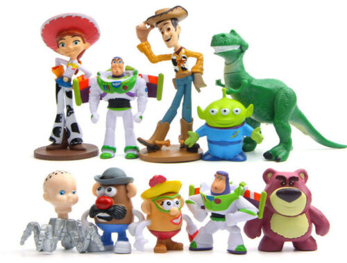 Lot 10 Toy story Action Figures Buzz Jessie Woody Figurines Doll Toy Cake Topper