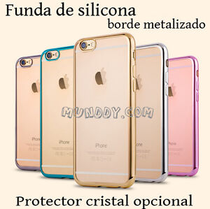 FUNDA-SILICONA-Para-bq-aquaris-u-plus-GEL-TPU-ULTRASLIM-BORDE-EFECTO-METALIZADO
