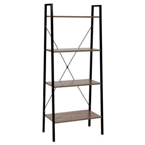 Bücherregal Regal Standregal HWC-B67 4 Ebenen 148x60x32cm