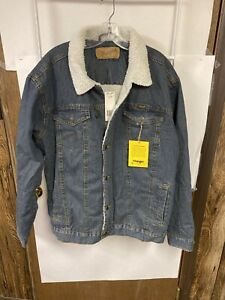 Wrangler-Men-039-s-Western-Style-Lined-Denim-Jacket-Sz-L-Tall