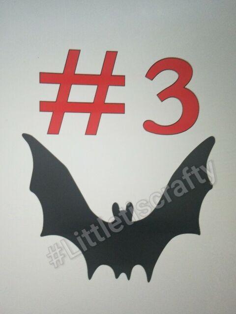 Bat die cuts #3 Halloween Cricut Embellishment Crafts Scrapbook
