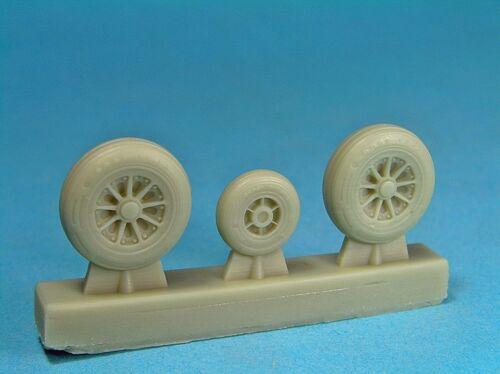 """48-0010 - 1:48 wheels set F-104 F//G /""""Starfighter/"""" Reskit"""