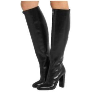 Womens Block Knee High Boots Side Zip Warm Plus Size Girls Knight Fashion E898