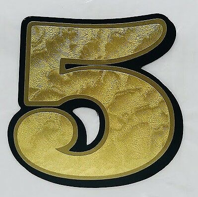 "7"" NUMBER DECAL 0-9 GOLD LEAF Vinyl harley sticker custom number plate cover"