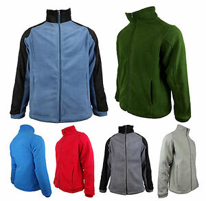 Mens-Location-Full-Zip-Warm-Polar-Fleece-Jacket-Anti-Pill-Work-Winter-Coat-FZ