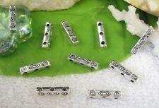 80pcs Tibetan silver 3 holes spacer beads FC10499