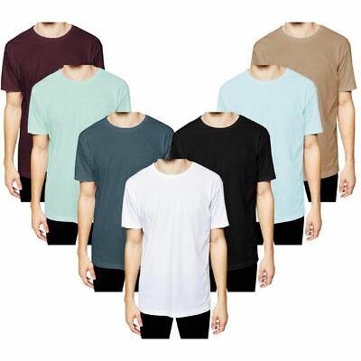 Ernst Mens Plain Pyjama Lounge Top Longline Tshirt 100% Cotton Base Layer Nightwear