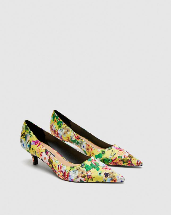 Neuf avec étiquettes Zara Floral Escarpins Talons Hauts Avec Amovible Liens ref 3210 301 taille 37 US