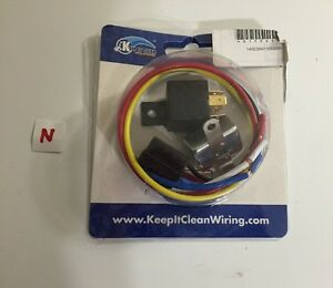 Keep it Clean Wiring 40 Amp Relay w/ Harness and Circuit ... Keep It Clean Wiring Harness on vintage maine wiring harness, holley wiring harness, mastercraft wiring harness, bully dog wiring harness, tremec wiring harness, autoloc wiring harness, piaa wiring harness, ignition wiring harness, aem wiring harness, kickz wiring harness, vdo wiring harness,