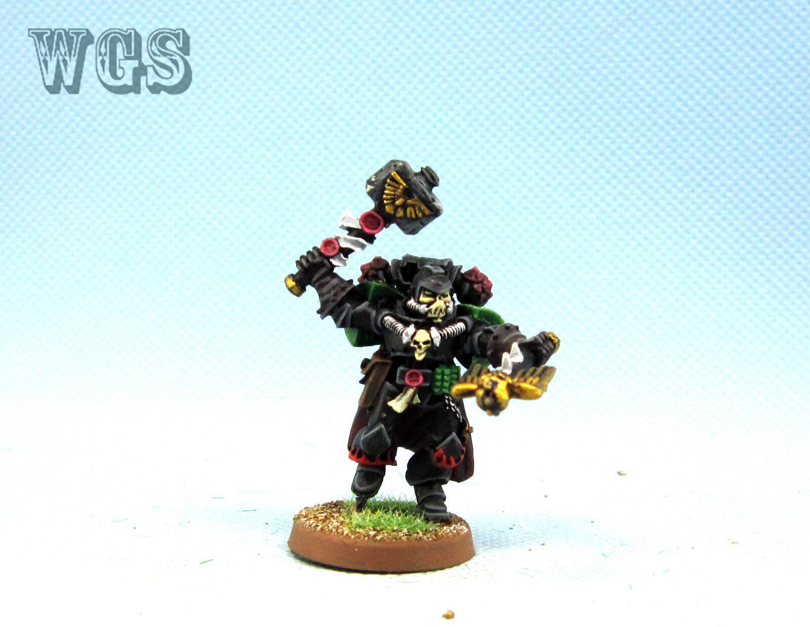 Warhammer 40K WGS painted Space Marine Salamanders Chaplain Xavier SM055