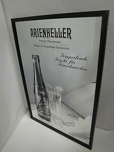 Other Antique Decorative Arts Nice Werbespiegel Arienheller Mineral Water Mirror Hanging Advertising 52x36 Rare Strong Resistance To Heat And Hard Wearing Decorative Arts