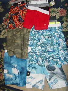 Boys NWT board shorts swim trunks OP size  s M XL XXL 4 5 8 14 16 18 sharks camo