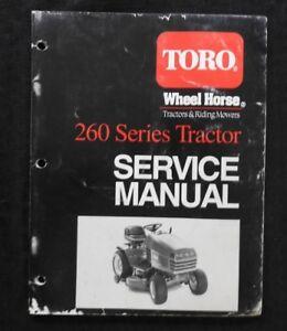 toro wheel horse 260 series 72042 72043 72083 lawn tractor service rh ebay com Wheel Horse Attachments Wheel Horse Snowblower ManualsOnline