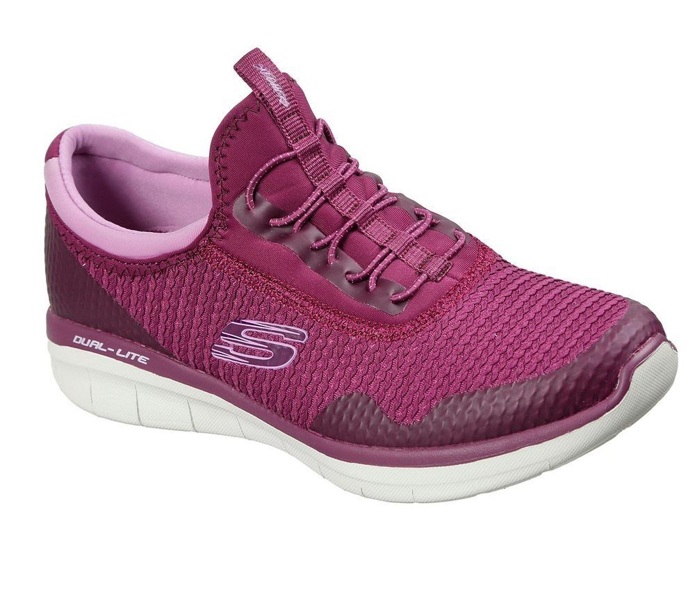 NEW SKECHERS damen Turnschuhe Trainers Memory Foam SYNERGY 2.0 - MIRROR IMAGE rot