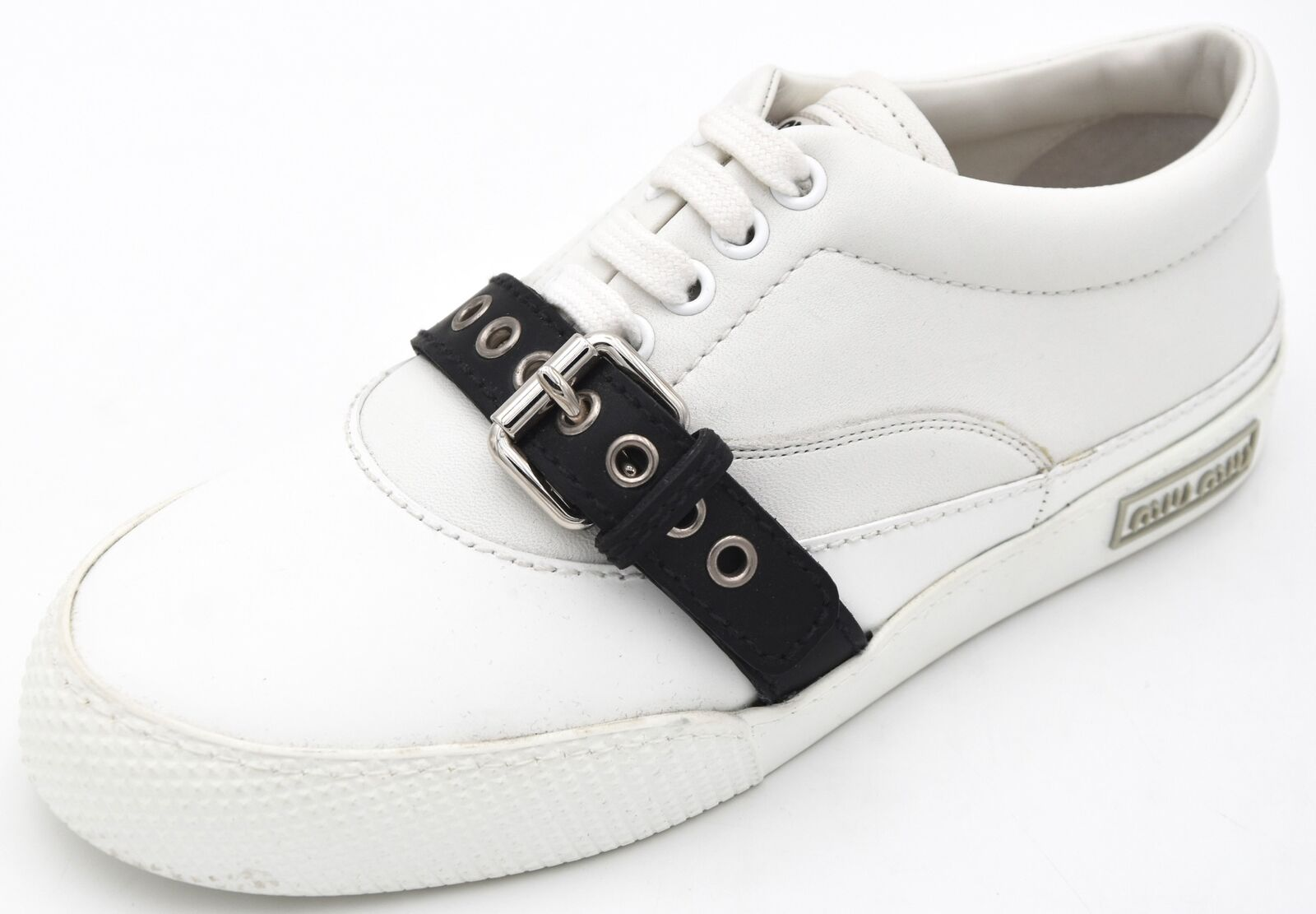 MIU MIU WOMAN baskets chaussures CASUAL FREE TIME LEATHER CODE 5E924A