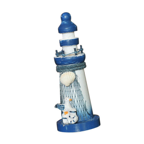 Wooden Mediterranean Nautical Tropical Lighthouse Sailing Tower Ornament D