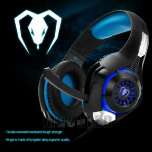 Pro-Gamer-PS4-Headset-for-PlayStation-4-Xbox-One-amp-PC-Computer-Blue-Headphones-New