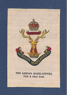GORDON HIGHLANDERS Gay Gordons Infantry Regiment Bydand 1915 WW1 Silk Army Badge