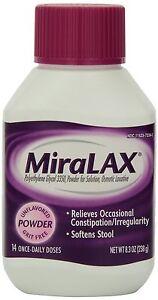 2 Pack Miralax Laxative Powder 8.3 Oz 14 Daily Doses Each