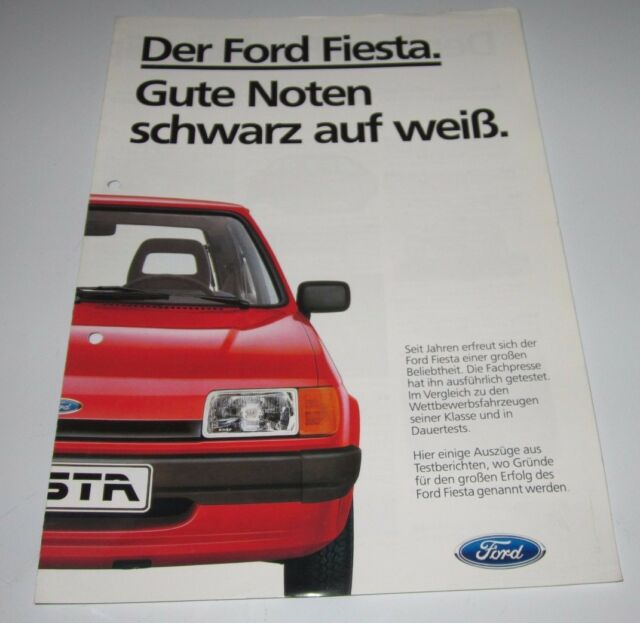Auto Prospekt Katalog Ford Fiesta 2. Generation Stand April 1985!