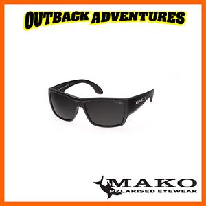 d8586fcb3d6f MAKO SUNGLASSES COVERT MATT BLACK FRAME GREY MIRROR GLASS LENS M01 ...