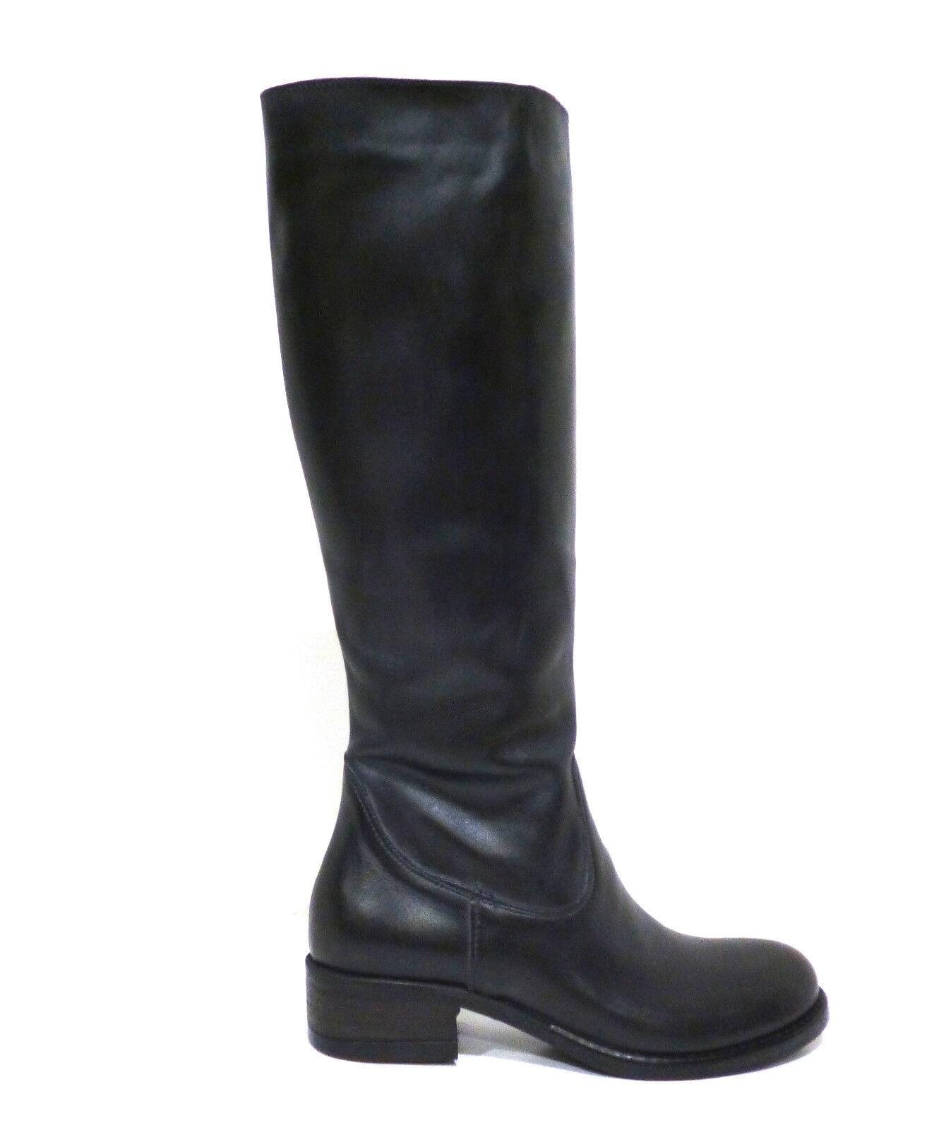 Scarpe donna donna donna stivale pelle grigio scuro con tacco basso Gioseppo Kaila e064a9