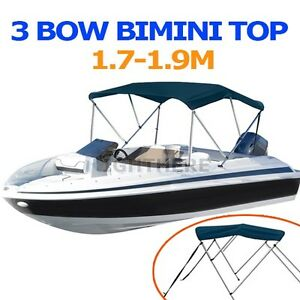 NEW-3-BOW-BOAT-BIMINI-TOP-1-7M-1-9M-WIDTH-1-3M-HEIGHT-CANOPY-COVER-NAVY-BLUE
