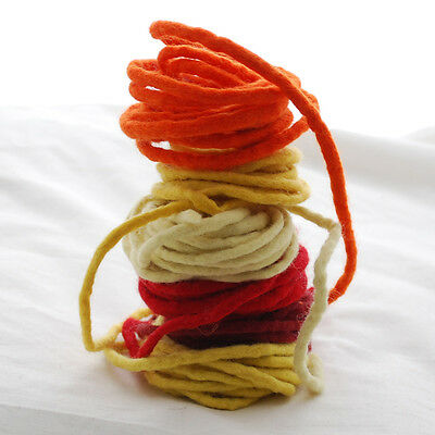Assorted Colours Handmade 100/% Wool Felt Cord String