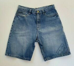 BILLABONG-Mens-Retro-Blue-Denim-Surf-Shorts-Size-32