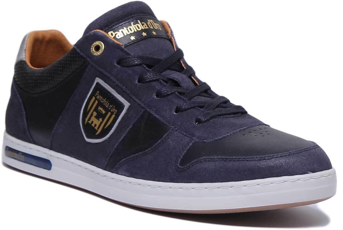 Pantofola d' oro Milito hombres Hombres Cuero Navy Zapatillas tamaño de Reino Unido 6 - 12