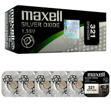 5 x Maxell 321 Silver Oxide batteries 1.55V SR616SW SR616 Watches 0% Mercury