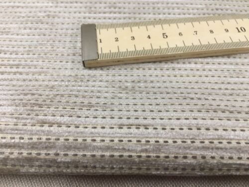 Buyo Soft Chenille Perpeck Beige 140cm wide Upholstery Fabric  Fire Retardant