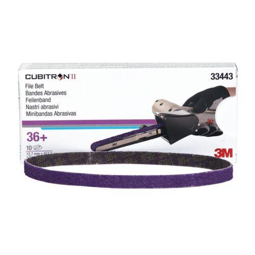 1//2 in x 18 in 36+ grade 3M™ 33443 Cubitron™ II File Belt 10 belts per carton