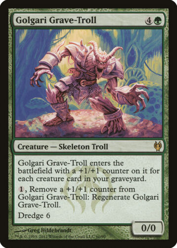 Duel Deck 9 Available Magic the Gathering MTG 1x Golgari Grave-Troll x1 LP//LP