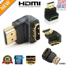HDMI Male to Female Connector Adapter 270/90 Degree Gold Plated Right Angle PH03