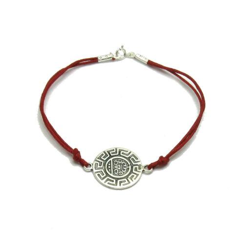 Silber armband 925 Mäander mit roter string  B000191R EMPRESS