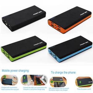Extern-Akku-100000mAh-Power-Bank-Zusatzakku-LED-Batterie-Ladegeraet-Tragbar-4USB