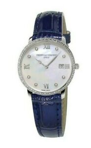 Frederique-Constant-Women-039-s-Quartz-Blue-Leather-Strap-36mm-Watch-FC-220MPWD3SD6