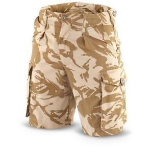 Genuine-British-Army-Surplus-Desert-Combat-Shorts-DPM-Camo-Waist-All-Sizes