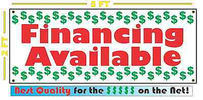 CARS WE FINANCE Banner Sign NEW Larger Size Red /& Yellow