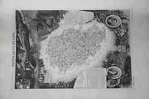 Grande-carte-France-1852-ATLAS-LEVASSEUR-Ed-Combette-Departement-52-HAUTE-MARNE