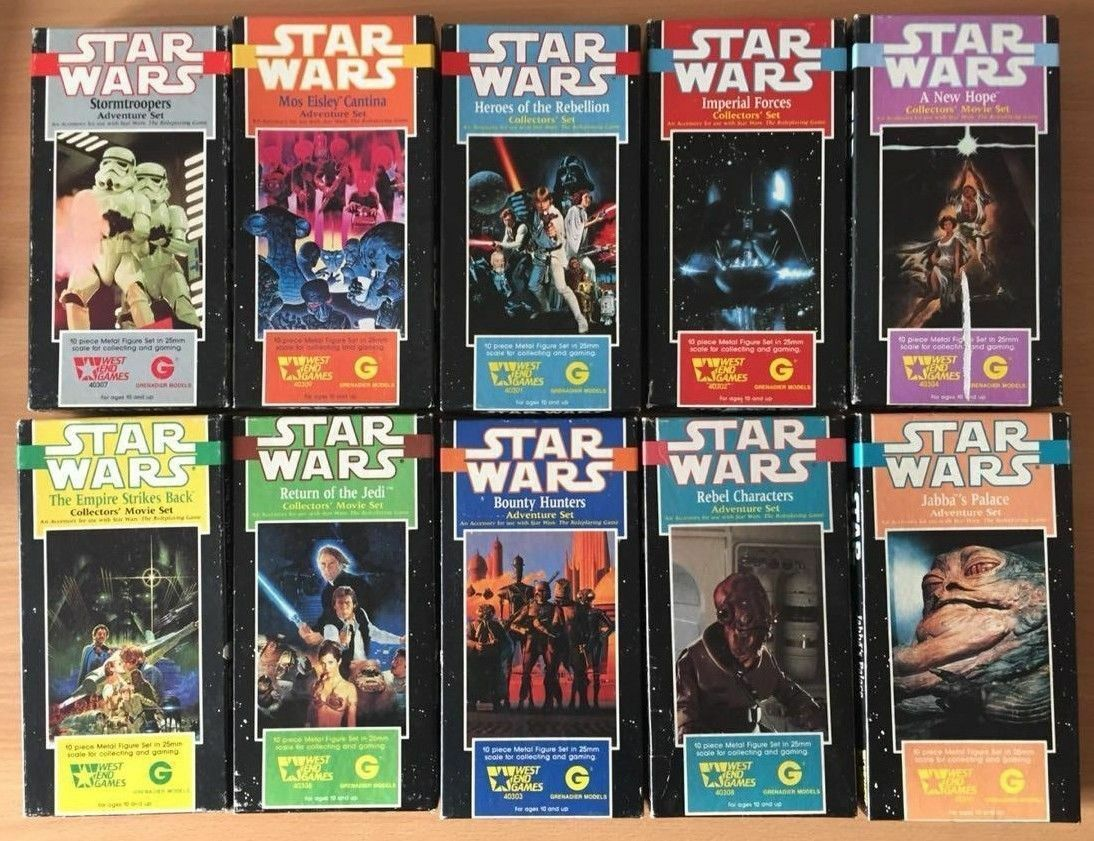 Star Wars West End Games Metal Miniatures RPG 1980s Box Sets Collectors Rare