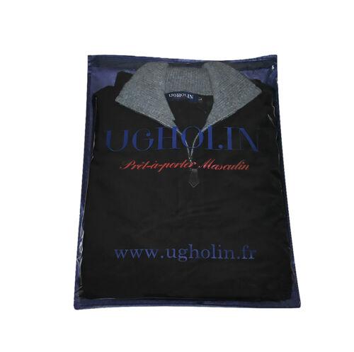 interno in colletto zip uomo da grigio 100 Ugholin nero Maglione con contrasto a cashmere 7Rqwqa