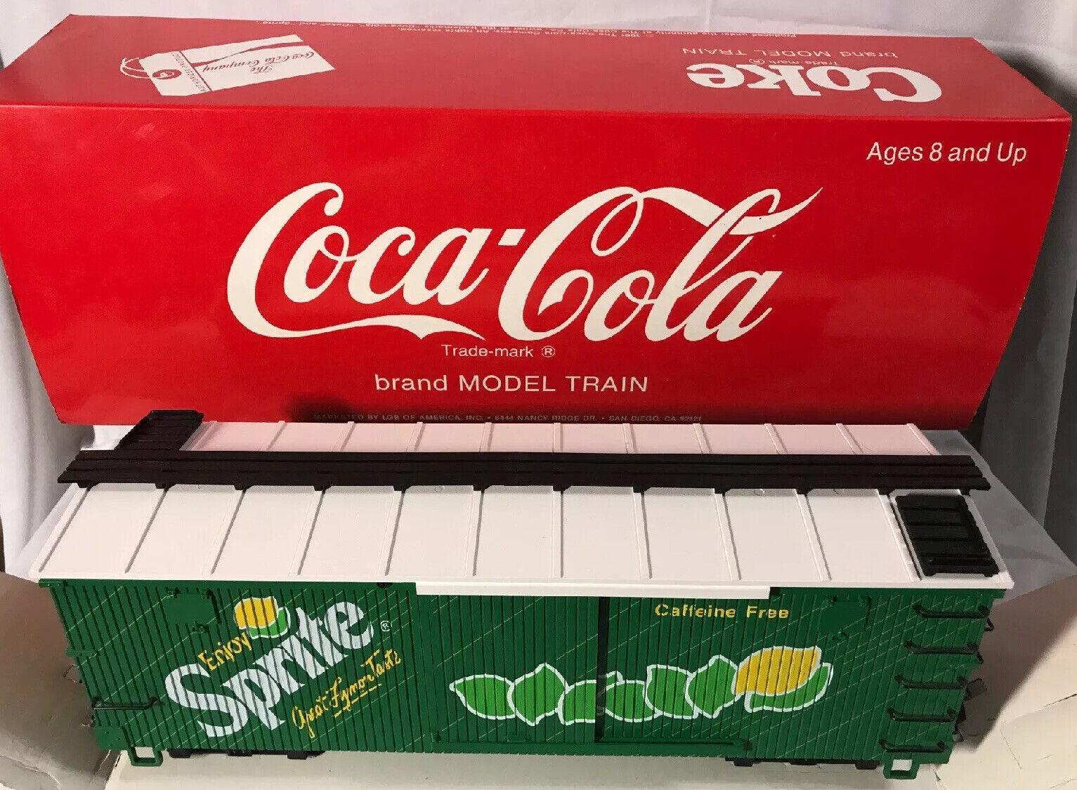 LGB   4090  SPRITE edizione Reefer auto by CocaCola  G Guage  IN scatola  & SLEEVE